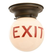 Classic Ceiling-Mounted Exit Light c1935