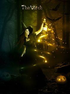 Halloween Night Witch Photoshop Manipulation Tutorial #photoshoptutorials #photomanipulation #photoediting #techniques #tipstricks