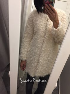 Manteau mouton via Sweetie Boutique. Click on the image to see more!