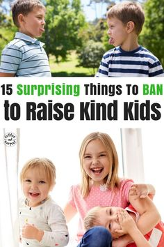 15 things to ban to raise kind kids. Ready to stop the complaining and whining in your home? Help your kids learn to be kind to one another by eliminating these 15 things in your home. Positive parenting tips to help you raise kind kids. Baby Must Haves, Gentle Parenting, Parenting Advice, Parenting Classes, Parenting Styles, Kindness Activities, Activities For Kids, Daily Activities, Baby Shooting