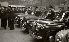Officers and vehicles of the former Oldham Borough Police stand ready to be inspected by one of Her Majesty's Inspectorate of Constabulary (HMIC) on the 24rd July 1953. The entire event is recorded by the force's photographer.  http://www.gmpmuseum.com