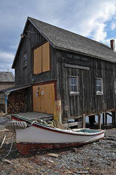 Dory Shop, Lunenburg, Nova Scotia, Canada - Unesco World Heritage Site Lunenburg Nova Scotia, Great Places, Places To Go, Cabana, East Coast Road Trip, Atlantic Canada, Newfoundland And Labrador, Prince Edward Island, New Brunswick