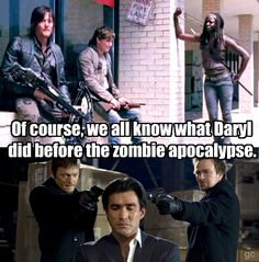 Daryl before the zombie apocalypse. The Walking Dead. Love sexy Norman Reedus as Daryl Dixon!