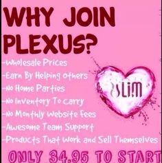 New reps needed to join my Plexus Slim team. Do you want to lose weight and make money? Ask me how . . .www.plexusleah.com Ambassador# 342546 https://www.facebook.com/pages/Get-Healthy-With-Leah/1615760395309771