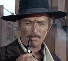 Lee Van Cleef- Angel Eyes in The Good, the Bad and the Ugly-1966. He collapsed in his home having a heart attack in Oxnard, CA. (1925-1989)