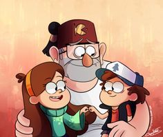A Grunkle & his Family | Grunkle Stan, Mabel & Dipper | Gravity Falls