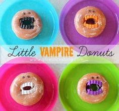 Little Vampire Donuts: LOL! These are hilarious and great for parties this Halloween.