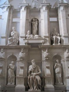 Michelangelo's funeral monument to Pope Julius II, featuring Moses, in San Pietro en Vincoli (St Peter in Chains) - Rome, Italy