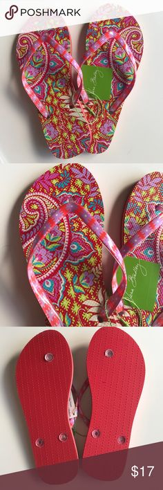 NWT Vera Bradley Flip Flops ❤️ New with tags, Vera Bradley Flip Flops size Medium (7-8). Color is Paisley in Paradise. Textured anti-slip outer sole. Vera Bradley Shoes Sandals