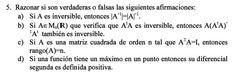 Ejercicio 5 del Examen de Matemática 2 (ADE, ULL). 27 Noviembre 2010. Tema: Matrices