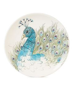 My mother got me tons of these plates for Christmas. They're peacock, so of course I love them!