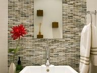 Soothing Glass Backsplash | HGTVRemodels.com