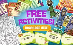 Free downloads for Bible flashcards, coloring pages, family activities, verse of the day, and more!!!