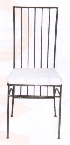 chaise de jardin en fer forg avec coussin d 39 assise camille promos du moment promos alin a. Black Bedroom Furniture Sets. Home Design Ideas