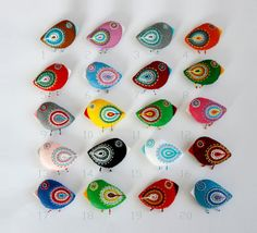 """Perhaps I should """"tweet"""" this!  Cute little birds by moloco on Etsy."""