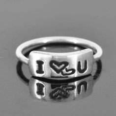 promise I love you sterling silver initial heart by JubileJewel, $25.00