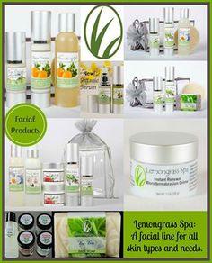 Lemongrass Spa - A facial line for all skin types and needs. LOVE this stuff!!! Our lemongrassspa.com/4668