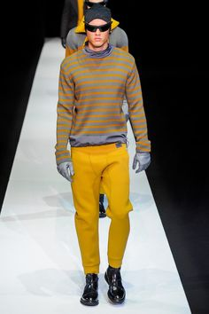 Yellow pants for the Fellas? We love it anyway! Emporio Armani | Fall 2013 Menswear Collection