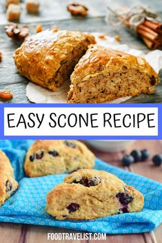 Is there anything better than tea and scones? Maybe. But they sure are up there on our favorites list. The easy scone recipe will have you making them for your own afternoon teas or turning them into sweet or savory snacks. You can flavor your scones with just about anything you have in your panty. #SconeRecipe #Recipe #EasySconeRecipe