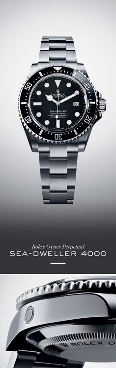 The Rolex Sea-Dweller is an ultra-resistant diving watch waterproof to a depth of metres. Discover more on the Official Rolex Website. Fine Watches, Sport Watches, Cool Watches, Watches For Men, Stylish Watches, Luxury Watches, Rolex Watches, Rolex Diamond Watch, Diamond Watches