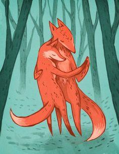 Hey, j'ai trouvé ce super article sur Etsy, chez https://www.etsy.com/fr/listing/174785845/fox-trot-illustration-impression-85-par