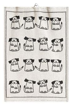 Dogs Towel – By Ekelund Weavers – at designsofsweden.com Swedish Kitchen, Towel, Prints, Dogs, Cooking, Swedish Cuisine, Pet Dogs, Doggies, Towels