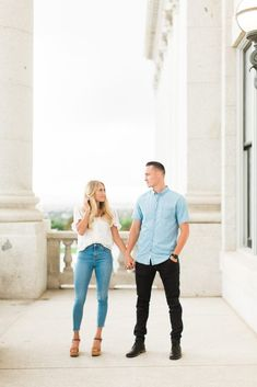 Utah State Capitol Engagement Photography | Tori & Tanner - Abbey Kyhl Winter Engagement Photos, Engagement Photo Outfits, Engagement Photo Inspiration, Casual Engagement Outfit, Utah, Salt Lake City, Images D'engagement, Engagement Photography, Wedding Photography