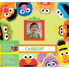 "Sesame Street Frame-A-Name Postbound Album 12""X12"" - EK Success - Toys ""R"" Us $20"