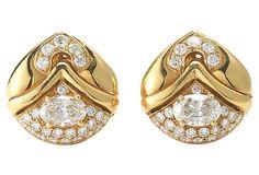 Bulgari Oval Diamond Earrings on OneKingsLane.com   $16,595.00