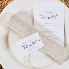 Papelería de mesa para fiestas de Primera Comunión de niñas / La Fiesta de Olivia