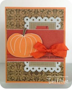 Picking Pumpkins Card by Kimber McGray for the Card Kitchen Kit Club; October 2013 Card Kitchen Kit