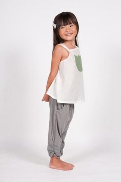 Go Gently Baby Gathered Jersey Pants // at Darling Clementine