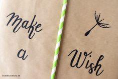 DIY Geschenkverpackung: Pusteblume // DIY Gift Wrapping Idea: Dandelion Topping