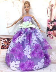 """NK Un Pcs 2016 Princesse Robe De Mariage Noble Partie Robe Pour Barbie Poupée De Mode Conception Tenue Meilleur Cadeau Pour Fille """"Poupée 021A"""