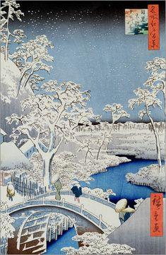 Winterlandschaft: Poster & Kunstdruck von Japanese School