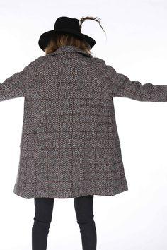 Cappotto Mason's donna modello Forte in lana a quadri - Masons