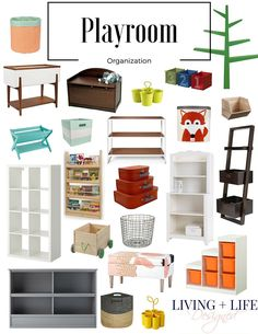 So many great playroom organization ideas! We're looking to add more storage for better organization to all our toys and all these stores are easy to shop at and find what I'm looking for. Love this so much!