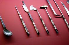 Antique surgical instruments   Leipzig 2012.