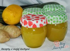 Zucchini jam with lemon & ginger Slovak Recipes, Russian Recipes, My Recipes, Finger Food Appetizers, Finger Foods, Appetizer Recipes, Chutney, Zucchini Jam, Home Canning
