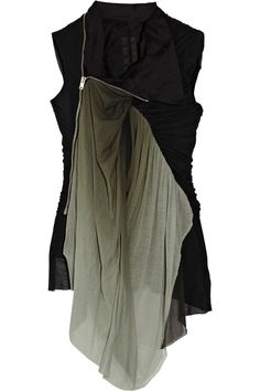 Visions of the Future // Rick Owens Jersey-paneled Cotton Vest in Black | Lyst