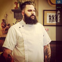 Custom barber smock #sartorandvillain #customade #barber #barbershop