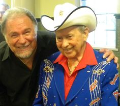 Gene Watson with one of his favorite entertainers, Little Jimmy Dickens.