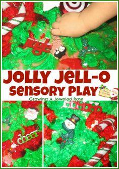 Jolly Jello- a fun Christmas sensory activity for kids!