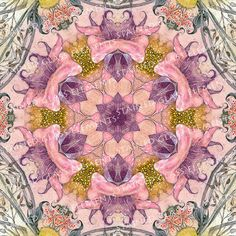 Ceramic decals, kaleidoscope, 750-850ºC, fusible transfers, image transfers, decals for enameling, decals kaleidoscope, decals hot glass door StainedGlassElements op Etsy