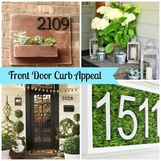 Some great ideas for creating a little curb appeal with your front door decor