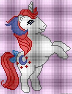 My Little Pony Moondancer perler bead pattern. Great for Hama beads and cross stitch designs too!