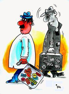 IL Mondo in una Vignetta di Emilio Isca: in tempo di crisi cè chi va e cè chi viene