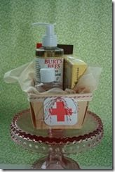 awesome packaging for a little pampering kit or get well gift...