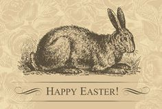 Vintage easter background (vector) Royalty Free Stock Photo