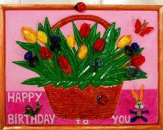 "NEW! Painting ""Happy birthday to you"". Wall Art, Acrylic Painting On Wood, Original Painting, Wall Decor, Glass Art, Artwork by Alex Pelesh. by PeleshArtStudio on Etsy"